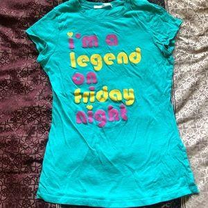 Legend on Friday night shirt